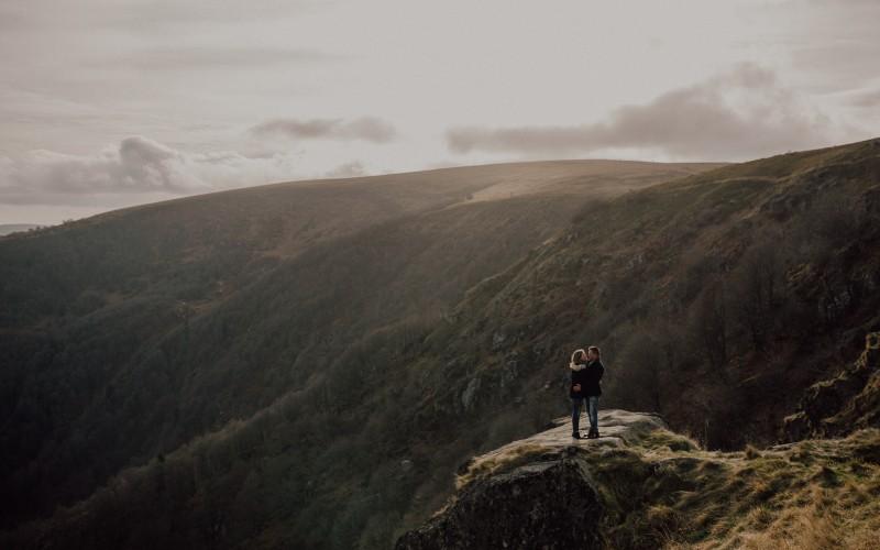 Emilie & Jonas - Séance engagement dans les montagnes d'Alsace