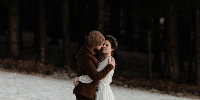 Un mariage végétal d'hiver en Alsace (France)
